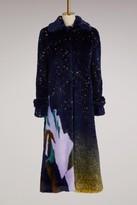 Marco De Vincenzo Long eco-fur coat