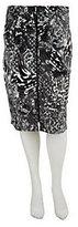 George Simonton Printed Ponte Knit Skirt w/ Zipper Detail