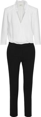 BA&SH Candice Two-tone Crepe Jumpsuit