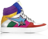 Marc Jacobs Rainbow Leather Eclipse High Top Sneakers