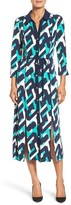Laundry by Shelli Segal Women's Print Midi Shirtdress