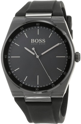 HUGO BOSS Unisex-Adult Analogue Classic Quartz Watch with Silicone Strap 1513565