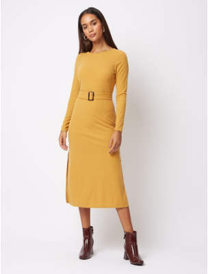 George Mustard Ribbed Bodycon Midi Dress
