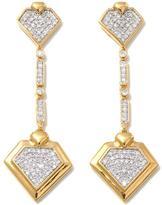 Diamonds Unleashed by Kara Ross 0.53ctw Diamond Vermeil Linear Drop Earrings