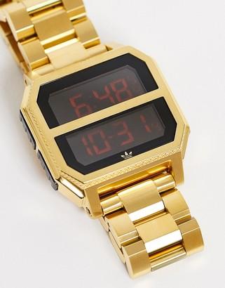 adidas Archive MR2 bracelet watch in gold