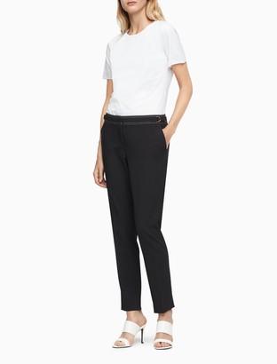 Calvin Klein Lux Straight Leg Stitched Pants