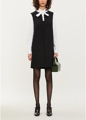 RED Valentino Sleeveless stretch-ponté dress