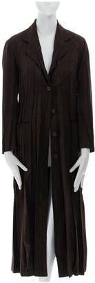 Issey Miyake Brown Suede Coats