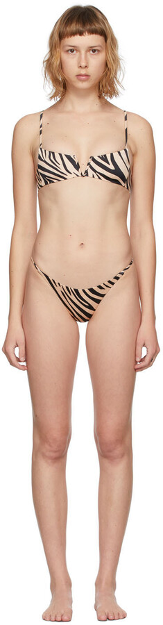Thumbnail for your product : BOUND by Bond-Eye Beige Zebra Can't Stop/Buffed Bikini