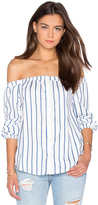 J.o.a. Off The Shoulder Long Sleeve Top