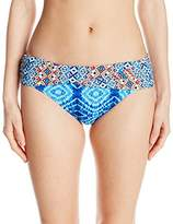 Bleu Rod Beattie Women's Mykonos Multi Print Sarong Fold Hipster Bikini Bottom