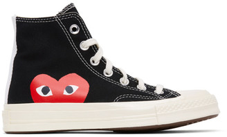 Comme des Garcons Black Converse Edition Half Heart Chuck 70 High Sneakers