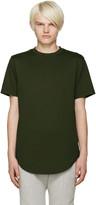 Pyer Moss Green Zipper T-Shirt