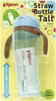 Pigeon 'Tall' Baby Training Drinking Cup Straw Bottle BPA Free for 9 Months+ (Blue) by
