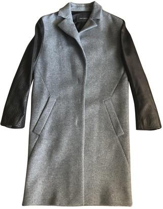 Cédric Charlier Grey Wool Coat for Women