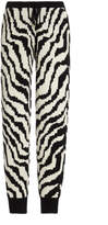 Madeleine Thompson Zebra Wool-Cashmere Drawstring Sweatpants