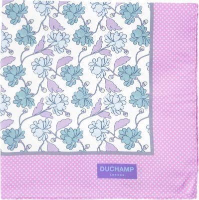 Duchamp Floral-Print Pocket Square