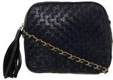 Navy Woven Chain Xbody Bag