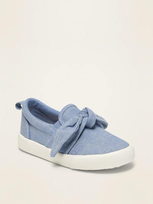 Old Navy Chambray Bow-Tie Slip-Ons for Toddler Girls