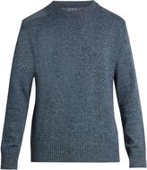 Blue Blue Japan Shoulder-patch cotton-blend sweater