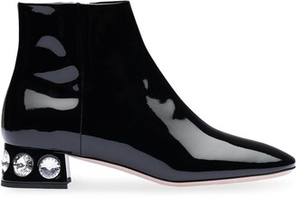Miu Miu Patent Ankle Boots