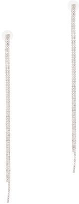Fallon Liquid Crystal-embellished Silver-tone Drop Earrings