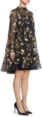 Erdem Cosima Embroidery Organza Dress