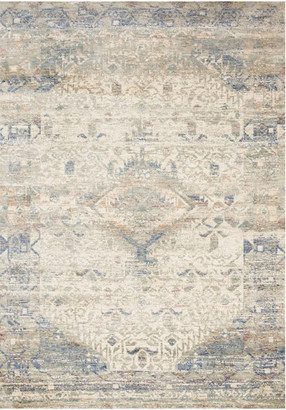"""Loloi Rugs Ivory Blue Revere Area Rug by Loloi, 2'-6""""x8'-0"""""""