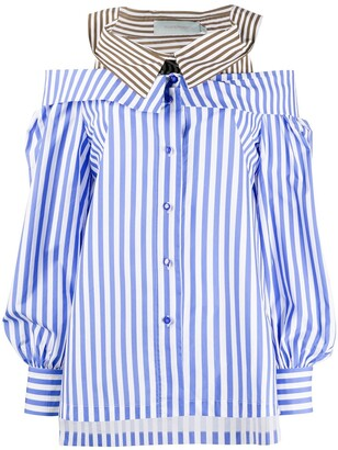 Silvia Tcherassi Double-Layered Striped Blouse