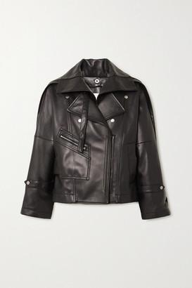 3.1 Phillip Lim Belted Leather Biker Jacket - Black
