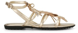 Tod's Fringed Strap Sandals