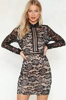 Nasty Gal nastygal Cross That Bridge Ladder Lace Dress