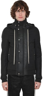 Rick Owens Dustulator Cotton Jacket W/ Shearling