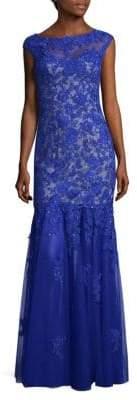 La Femme Sequin Floor-Length Gown
