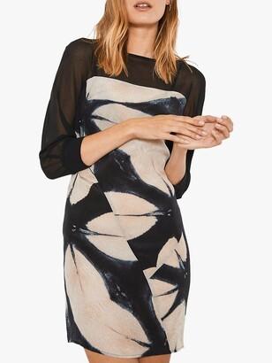 Mint Velvet Pearl Jersey Dress, Dark Blue