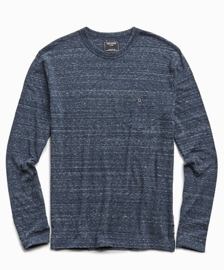 Todd Snyder Long Sleeve Heather Tee in Original Navy