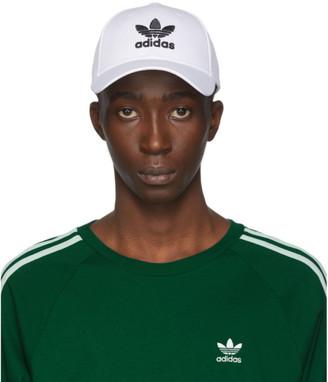 adidas White and Black Trefoil Cap