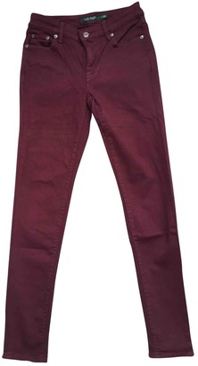 Lauren Ralph Lauren Red Cotton - elasthane Jeans for Women