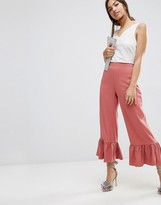 Asos Occasion Pants with Frill Hem