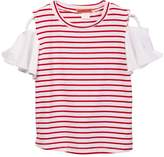 Funkyberry Striped Cutout Tee (Toddler, Little Girls, & Big Girls)