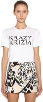 Krizia Logo Printed Cotton Jersey T-shirt