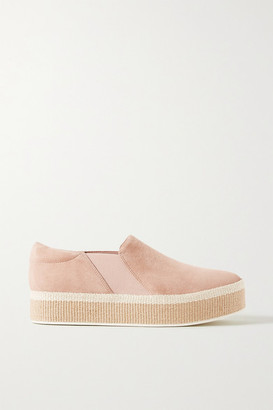Vince Wilden Suede Espadrille Slip-on Sneakers - Sand
