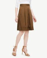 Ann Taylor Petite Poplin Pleated Full Skirt