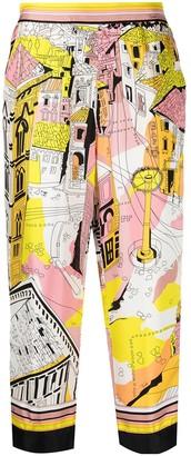 Emilio Pucci Battistero-print cropped trousers