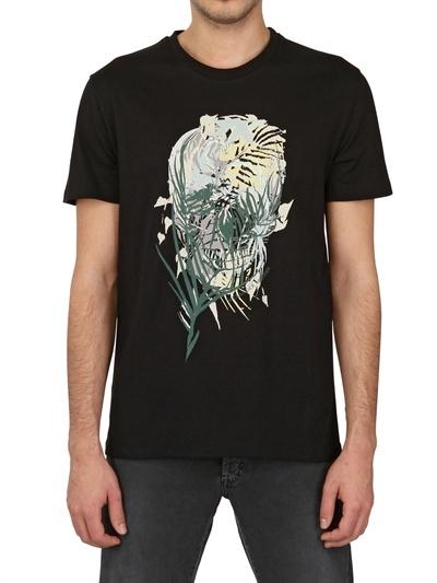 Alexander McQueen Skull Print Cotton Jersey