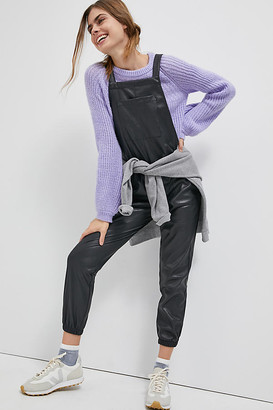 n:philanthropy Freja Faux Leather Overalls By in Black Size XS