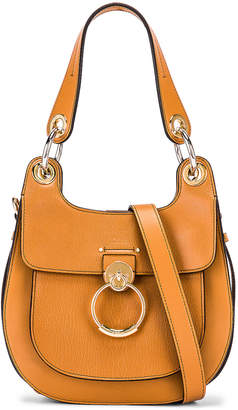 Chloé Small Tess Leather Hobo Bag in Autumnal Brown | FWRD