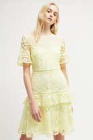 French Connection Calli Lace Round Neck Dress