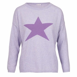 At Last... Cashmere Sweater Large Purple Star