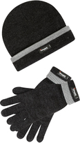 Yours Clothing THINSULATE Grey Marl Lined Hat & Gloves